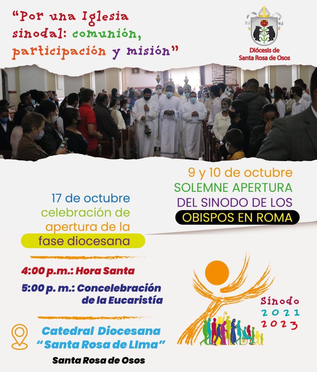 Invitación al sínodo de los obispos.