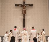 Celebración de sagrada eucaristía.